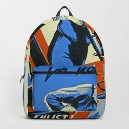 Vintage WW2 Navy poster Backpack