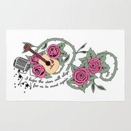 Rose Quartz Tattoo Version 5 Rug