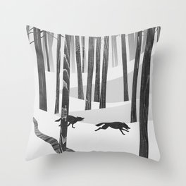 Martwood Wolves Throw Pillow
