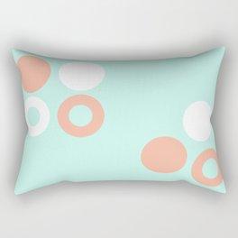 Turquoise & Coral (8) Rectangular Pillow