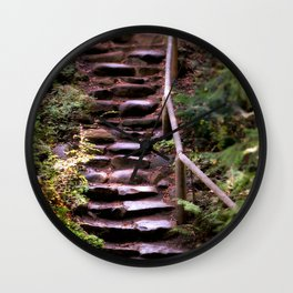 Old Wet Stone Steps Wall Clock