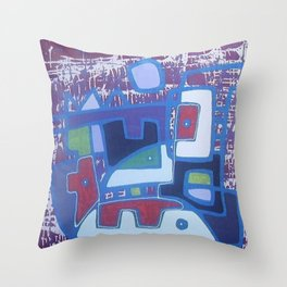 PERRO ROJO DENTRO DEL PAISAJE Throw Pillow