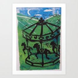 Carousel I Art Print