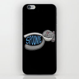 Spoonie Cat iPhone Skin