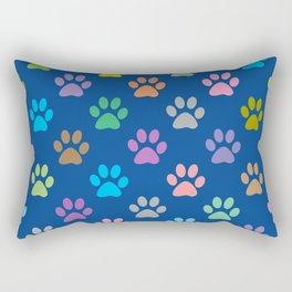 Colorful paw prints pattern Rectangular Pillow