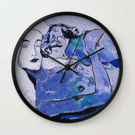 "Klimt deserves a ""Blue Period""  Wall Clock"