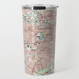 Greensboro North Carolina Map (1997) Travel Mug