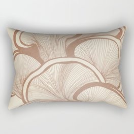Mushrooms in Copper Rectangular Pillow