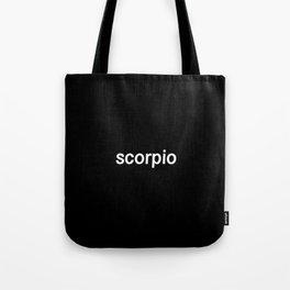 Scorpio (Black) Tote Bag