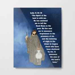 Jesus of Nazareth the Good Shepherd Metal Print
