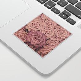 Some People Grumble - Pink Rose Pattern - Roses Sticker