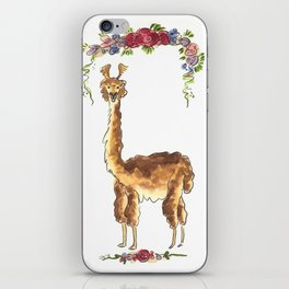 Alpaca with Flowers iPhone Skin