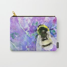 Bumblebee and Lavenders Carry-All Pouch