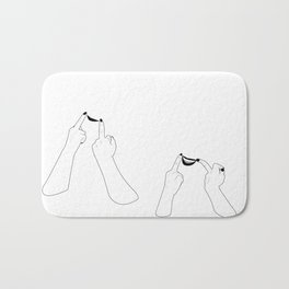 You girls are so pretty, you should smile Bath Mat