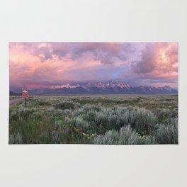Teton Range Sunrise Rug