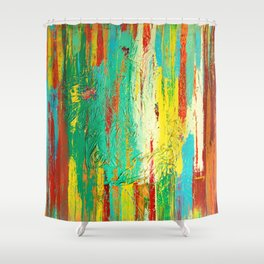 All That We See by Nadia J Art Shower Curtain