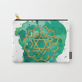 Heart Chakra Watercolour Painting Carry-All Pouch