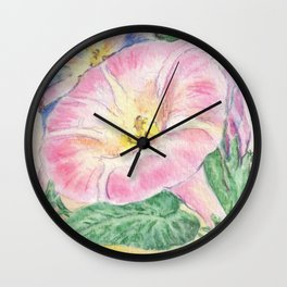 Morning Glory Seed Pack Wall Clock