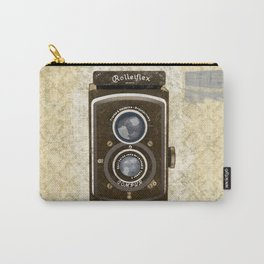 Yellow Vintage Camera Art Carry-All Pouch