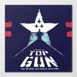 TOP GUN 1980 Poster Modified Canvas Print