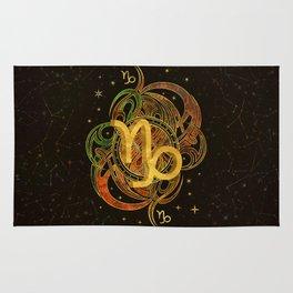 Capricorn Zodiac Sign Earth element Rug