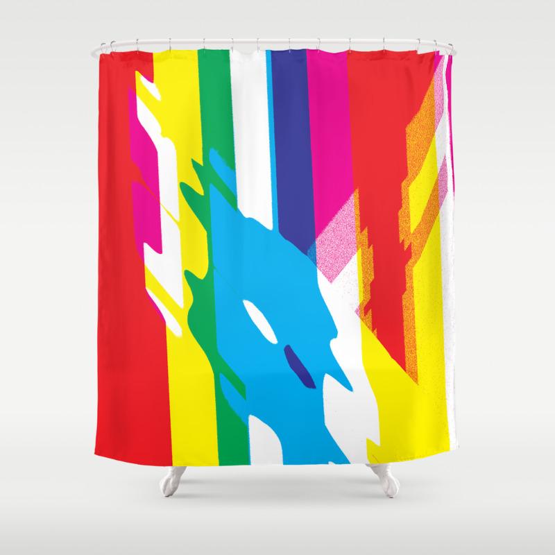Pop Nonstop 1 Shower Curtain by Shannacompton CTN8703676