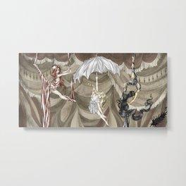 Midnight Circus: the Acrobats Metal Print