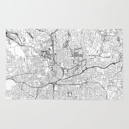 Atlanta White Map Rug