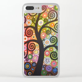 Abstract Art Landscape Original Painting ... Tree of Wishes Clear iPhone Case