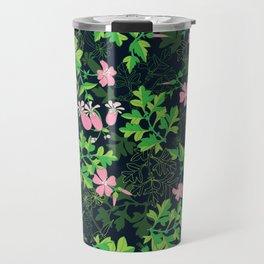 Forest Wildflowers / Dark Background Travel Mug