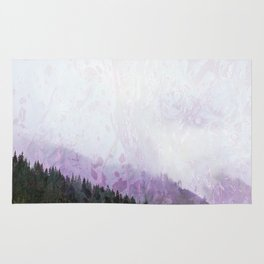 Fog in the mountains Rug