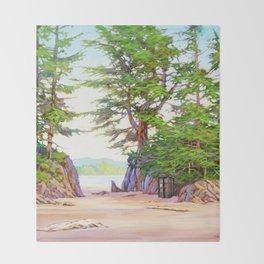 Tardis Stay In The Beach Throw Blanket