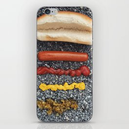Deconstructed Hot Dog iPhone Skin