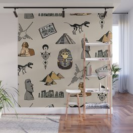 Dark Archeo pattern Wall Mural