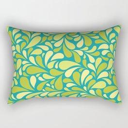 Drops of green Rectangular Pillow