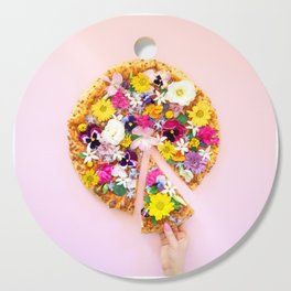 Flower Power Pizza Party Cutting Board