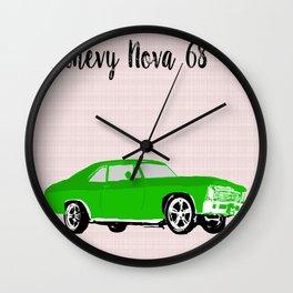 Chevy Nova 1968 car model Wall Clock