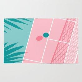 Jock - tennis sport retro neon throwback palm springs los angeles hollywood california sunny pop art Rug