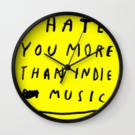 INDIE MUSIC Wall Clock