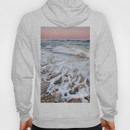 Waves At The Beach. Marbella. At sunset Hoody