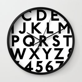 Complete Classic Type Alphabet 123 Wall Clock
