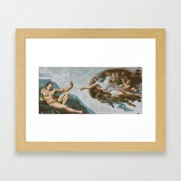 Naked Selfie's Creation Framed Art Print