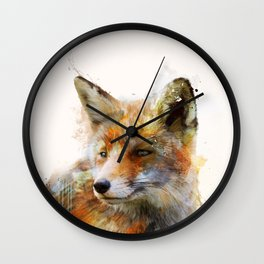 The cunning Fox Wall Clock