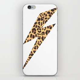 Wild Thing Leopard Lightning Bolt iPhone Skin