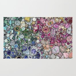 Diamonds, Jewels, (Gems & The Hologram) Rug
