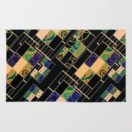 Creative patchwork. Rug