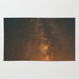 The Milky Way (Forest Landscape Photography, Starry Night Sky Photo) Rug