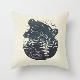 Craving wanderlust II Throw Pillow