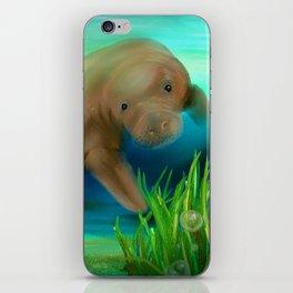 Manatee Illustration iPhone Skin