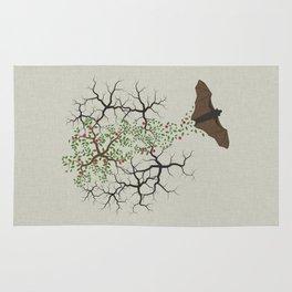 fruit bat paints forest Rug